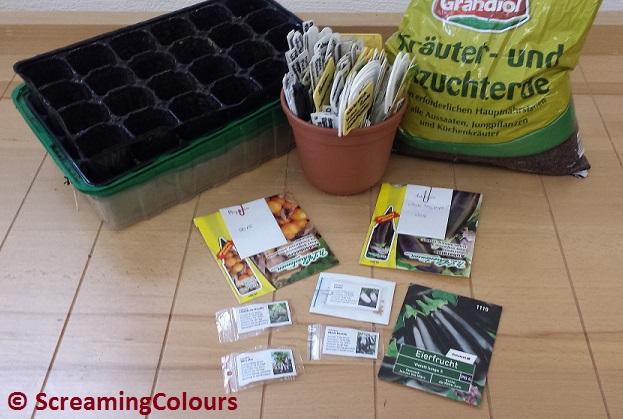 Auberginen und Physalis aussäen oder das neue Gartenjahrbeginnt