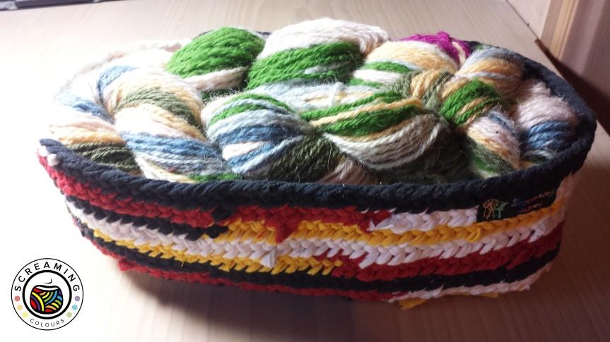 Nadelgebundenes Textilgarn-Körbchen