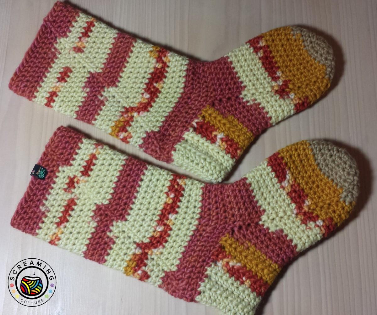 Weihnachtsgeschenk Nr. 2: dicke Slipper-Boots