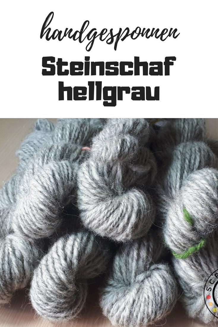 Versponnen: Steinschaf hellgrau