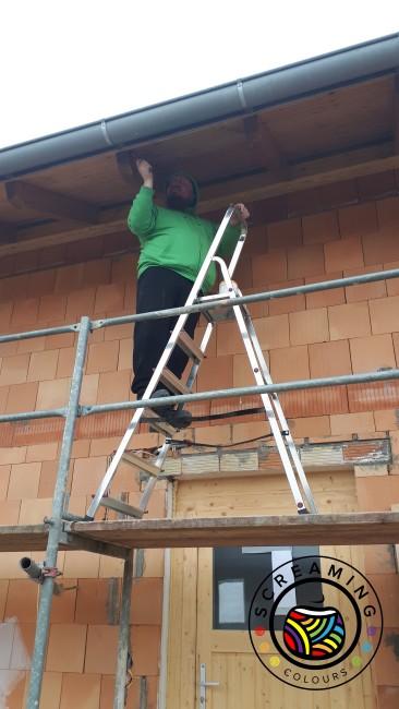 Dachvorsprung streichen 2