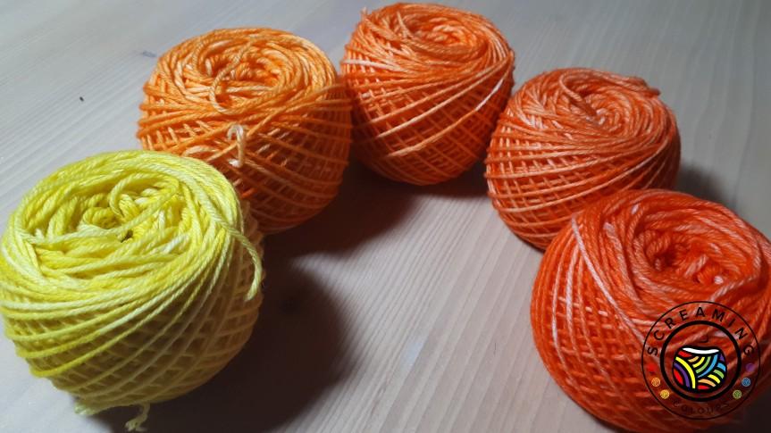 Flourite Socks, Knäuel gewickelt 2