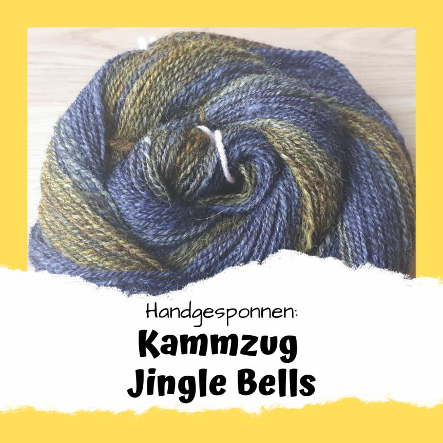 Handgesponnen: Kammzug JingleBells