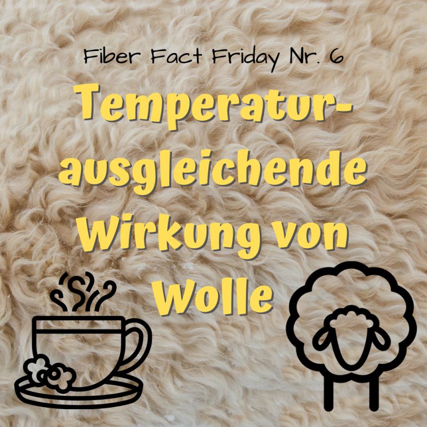 Fiber Fact Friday Nr. 6: Temperaturausgleichende Wirkung vonWolle